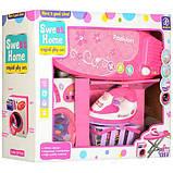 Детский набор бытовой техники 680: стиральная машинка, утюг, гладильная доска, корзина, музыка, свет, фото 4