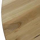 Круглые столы в кафе из массива дерева и металлическая белая опора, фото 3