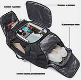 Рюкзак сумка Bange BG1922 вологозахистна  міська дорожня чорний 30 л, фото 4