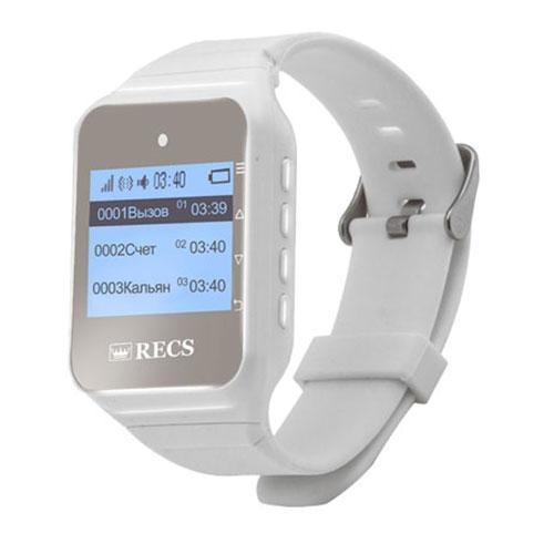 Пейджер-годинник персоналу RECS R-02 White Watch Pager