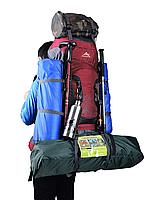 Туристический Рюкзак для походов 75+5 литров. синий, фото 4
