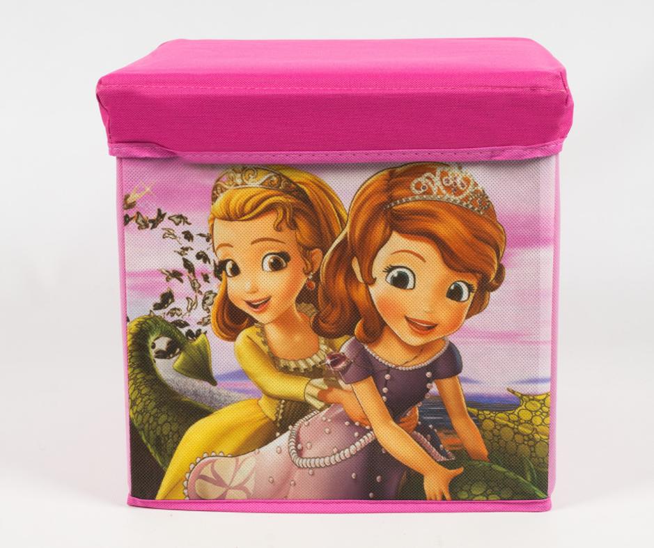 Пуф з жорстким каркасом для зберігання іграшок. 32*32*30 см