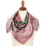 Шовковий хустку 10801-2, павлопосадский платок шовковий (атласний) з подрубкой, фото 2
