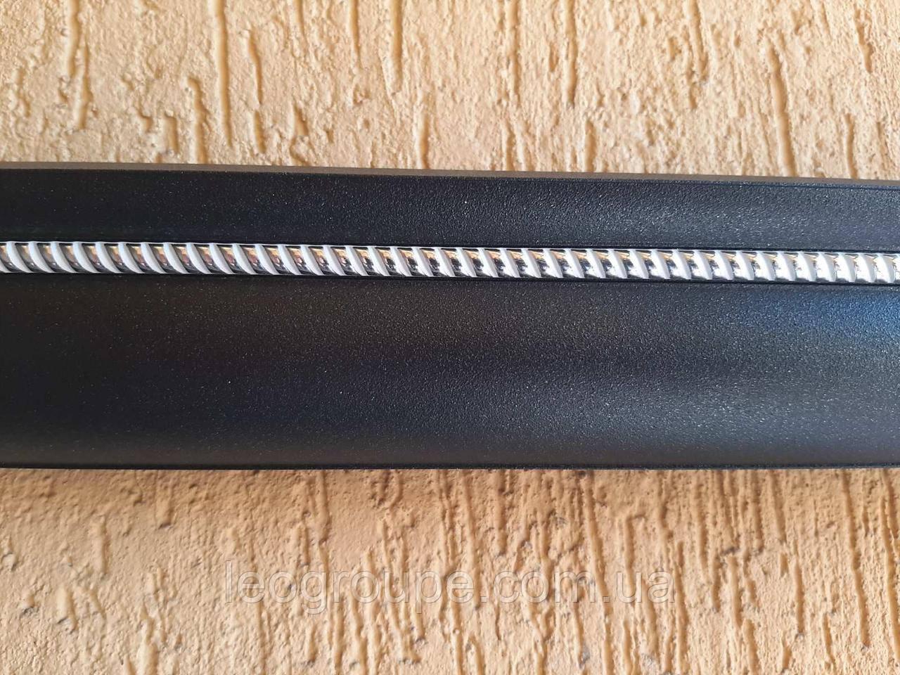 Карниз алюминиевый двойной  коса  графит черный  -1,5м