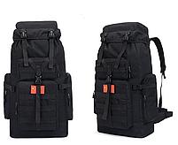 Туристический Походный Рюкзак  75 литров. цвет черный, фото 2