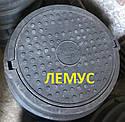 Люк полімерпіщаний С250 чорний без запірного пристрою, фото 2
