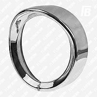 Ободок фары (кольцо) с козырьком для корпуса Ø5.75 дюйма (хром)