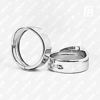 Ободки фар (кольца) с козырьком для корпусов Ø4.5 дюйма, 2 шт. (хром)