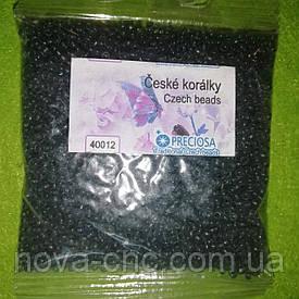 Бисер мелкий №9 серый матовый 50 грамм Чешский PRECIOSA