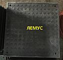 Люк квадратный полимерпесчаный  черный без замка, фото 3