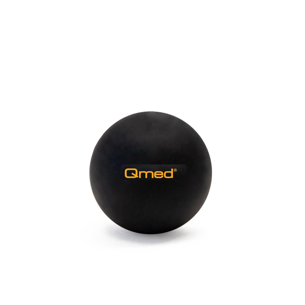 Масажний м'яч Qmed Lacrosse Ball, чорний Ø 6 см