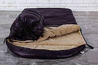Тактический спальный мешок на набивной овчине (до -25) спальник туристический для похода, для холодной погоды!