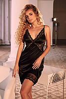Жіноча сорочка-плаття чорного кольору з мереживом. ТМ Anabel Arto. Україна.42. 44. 46. 48. 50. 52. 54.