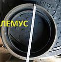 Люк полимерпесчаный ᴓ 315 черный под телескопическую трубу, фото 5