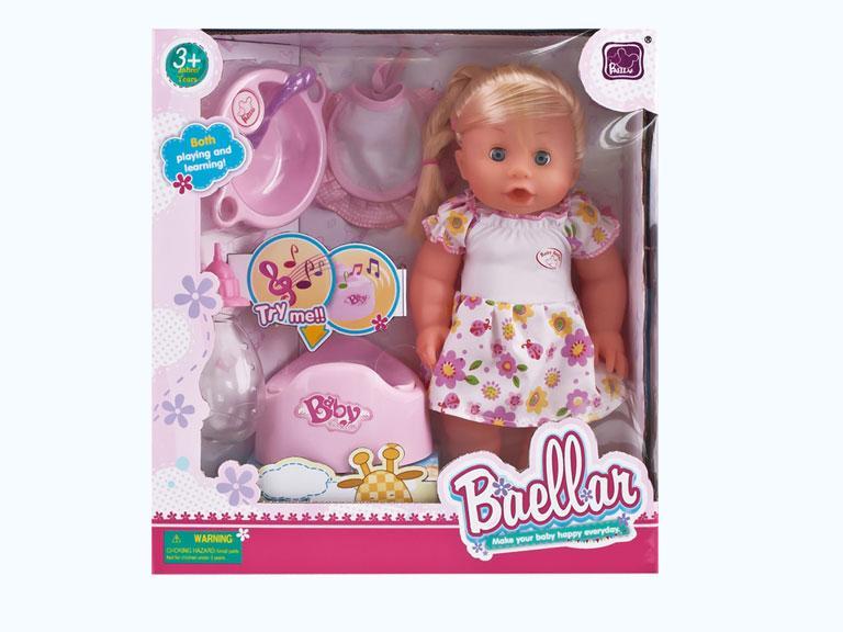 Кукла пупс со звуком и аксессуарами, Baellar
