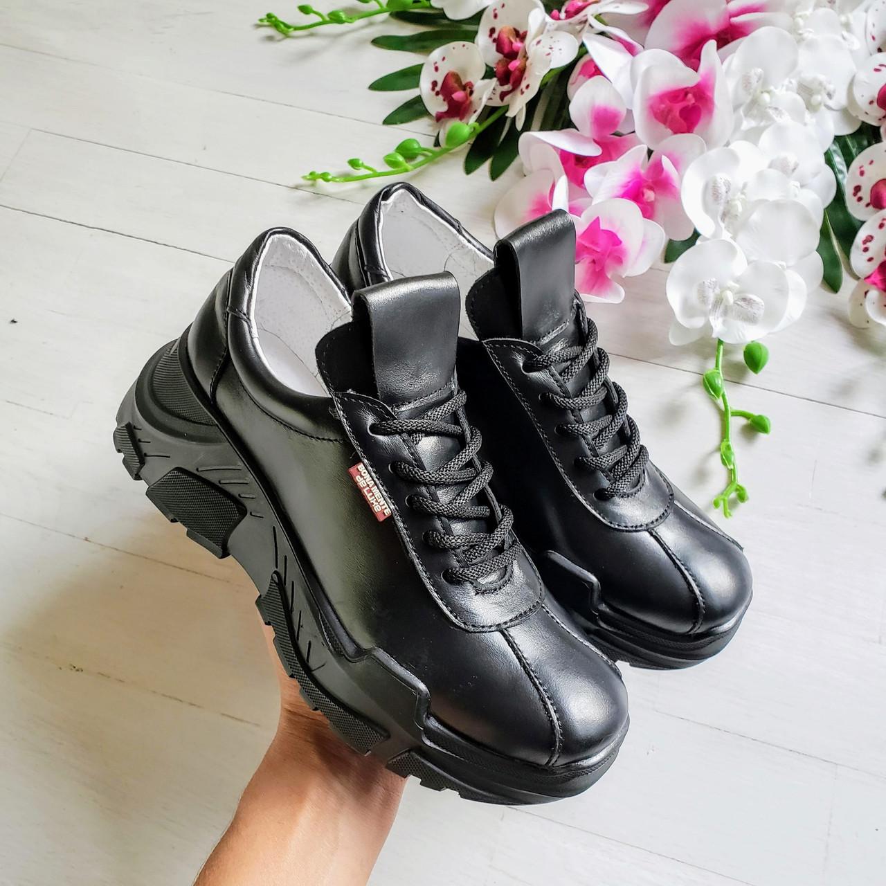 Кроссовки женские кожаные POWER BONA MENTE de luxe