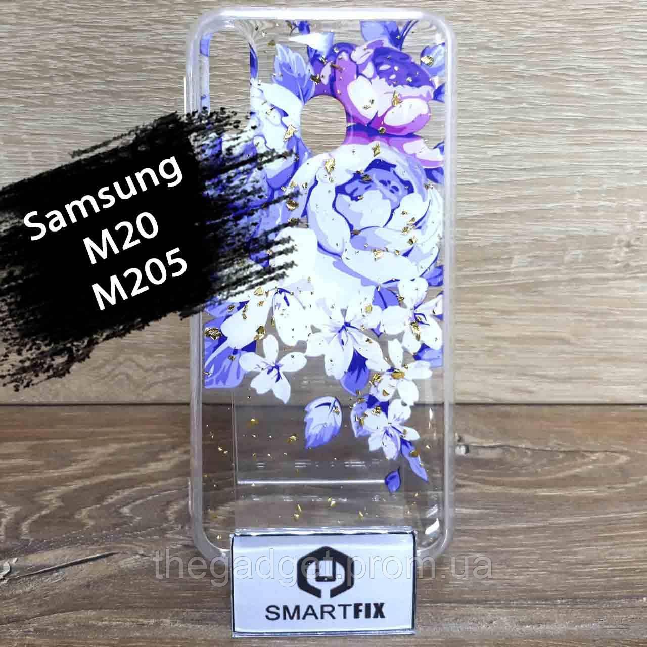 Чехол с рисунком для Samsung M20