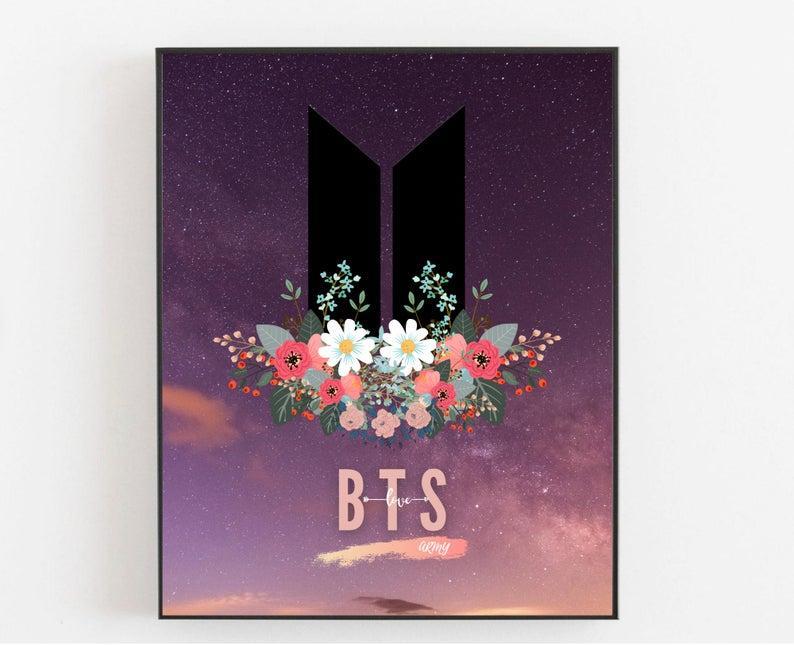 Плакат BTS & AMRY. Формат А3