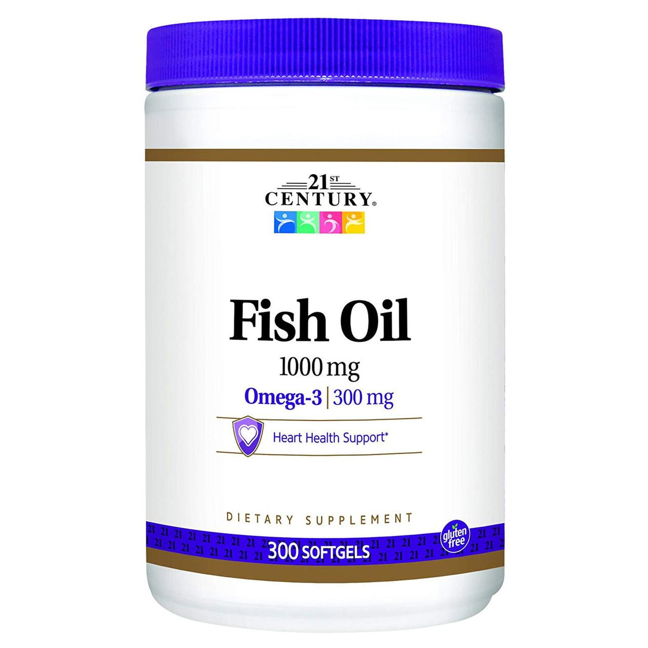 Рыбий жир OMEGA 3 FISH OIL 1000 мг 300 гелевых капсул