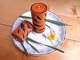 """Набор восковых свечей с цветной вощины """"Оранжевой"""" Zigrivay 2 шт (10024), фото 2"""