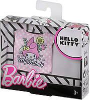 Одежда Барби с любимой блузкой Hello Kitty FXJ92, фото 2