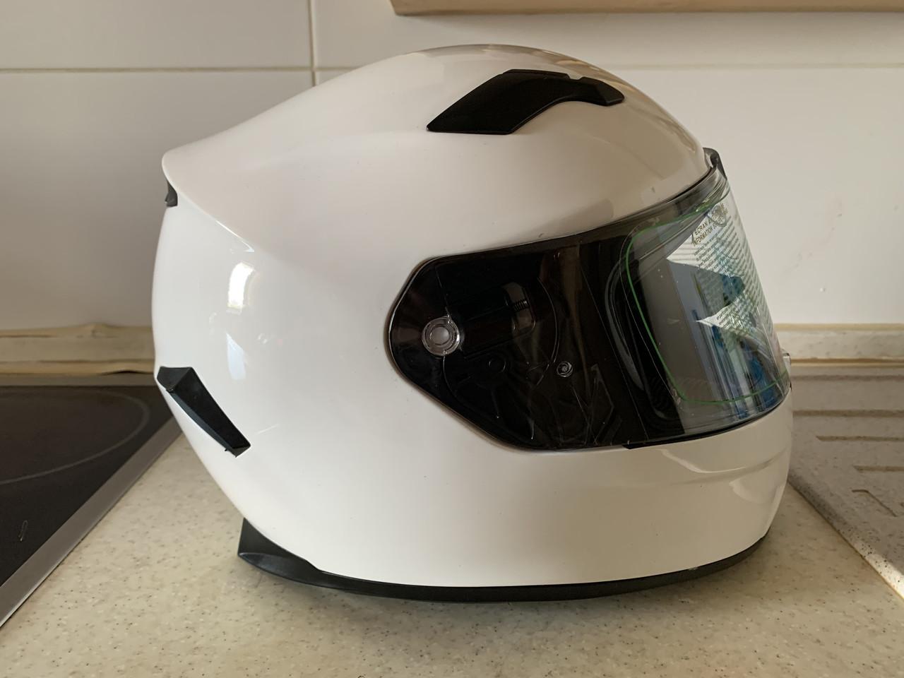 Белый Мото шлем оригинал Европа закрытый Naxa(Польша) сертифицирован