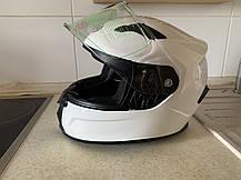 Белый Мото шлем оригинал Европа закрытый Naxa(Польша) сертифицирован, фото 2