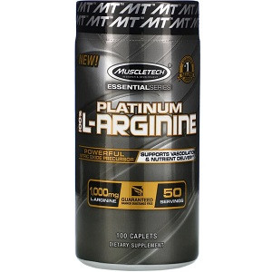 L-Аргинин Muscletech Platinum 100% L-Arginine 1000 mg (100 капсул.)