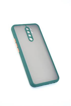 Чехол Xiaomi Redmi 9A Silicon Gingle matte Dark Green/Orange, фото 2