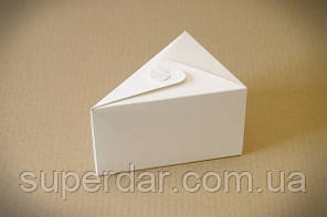 Коробка для одного шматка торта 150х110х90 мм., біла СД01-01