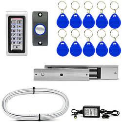 Электромагнитный замок ЕМ280-ЕКП с кодовой клавиатурой на подъезд