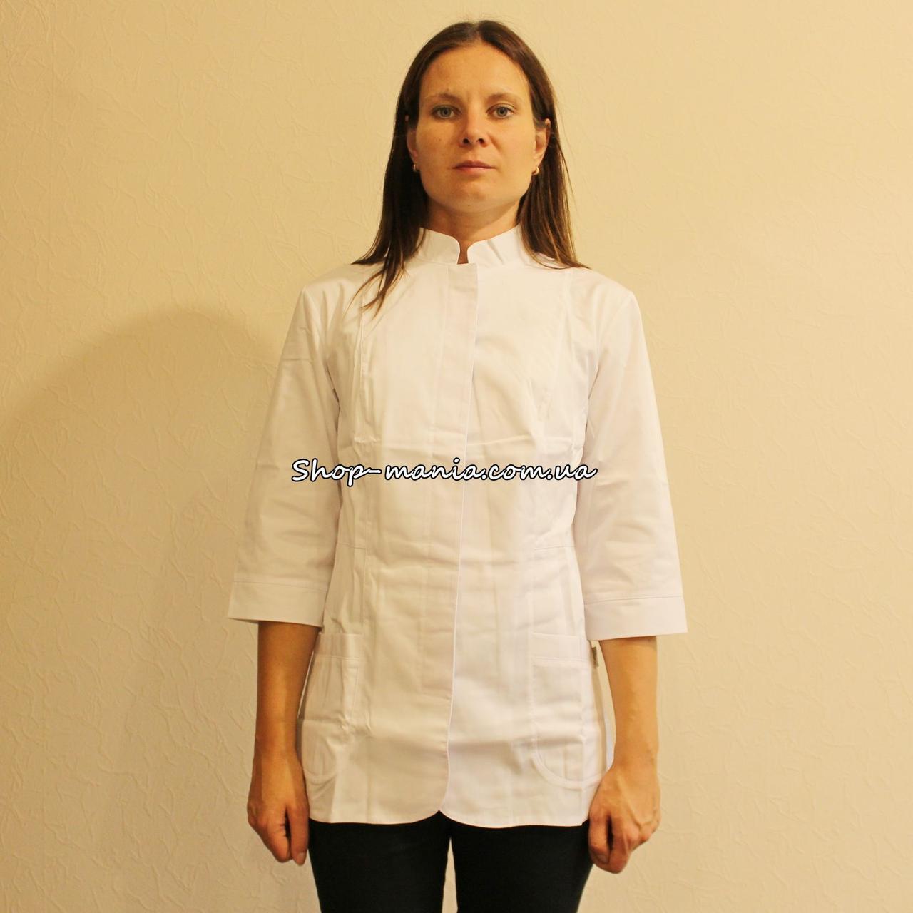 Женская медицинская куртка SM 1016-6 Rozaliya 42-56p (белый)