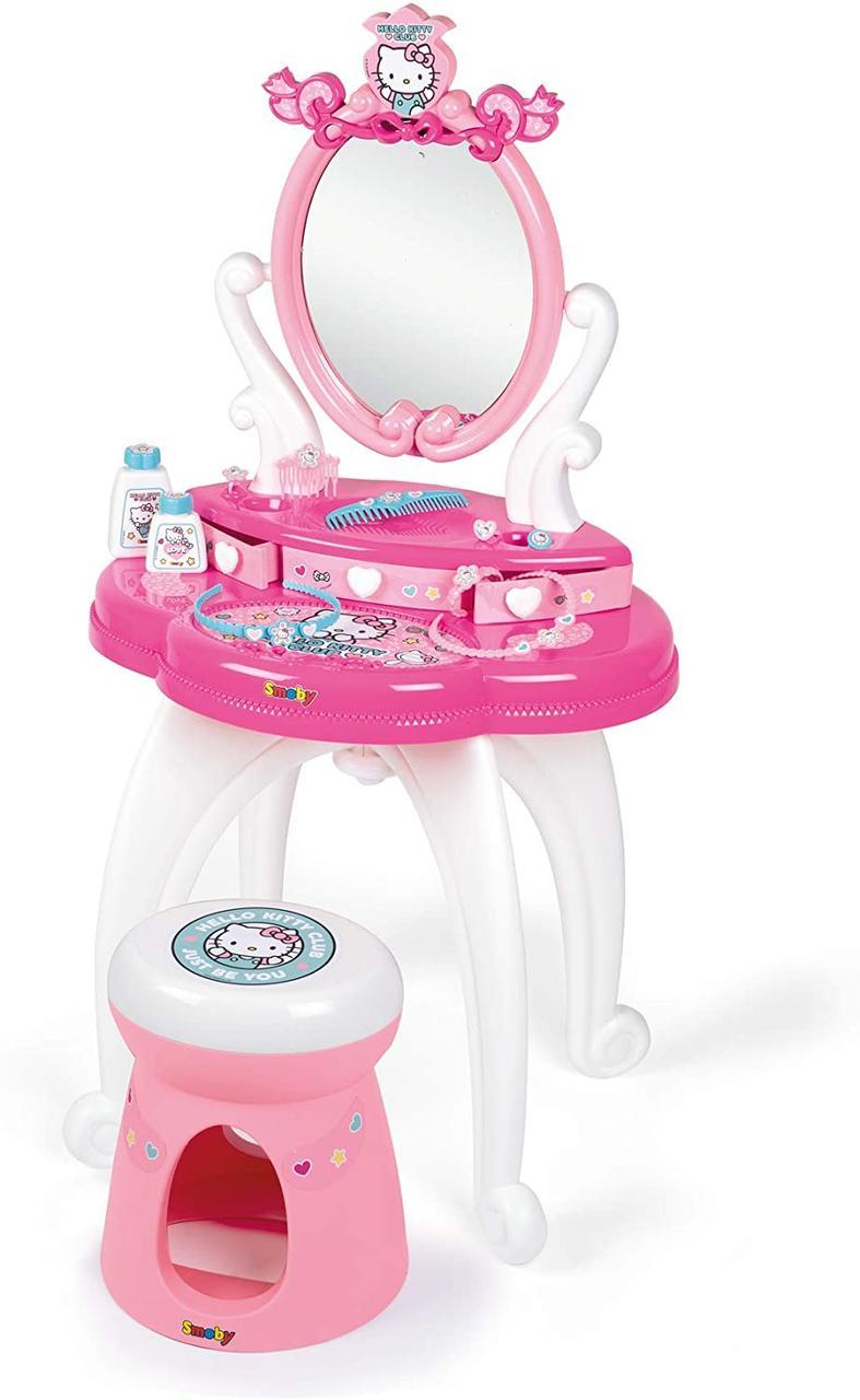 Детский столик с зеркалом Хэллоу Китти  Hello Kitty 2 в 1 Smoby 320239