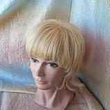 Парик из натуральных волос каскад блонд ALINA-613, фото 2