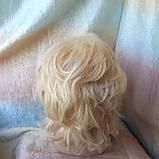Парик из натуральных волос каскад блонд ALINA-613, фото 3