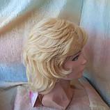 Парик из натуральных волос каскад блонд ALINA-613, фото 4