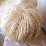 Парик из натуральных волос каскад блонд ALINA-613, фото 5