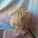 Парик из натуральных волос каскад блонд ALINA-613, фото 6