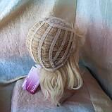 Парик из натуральных волос каскад блонд ALINA-613, фото 7