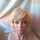 Парик из натуральных волос каскад блонд ALINA-613, фото 8