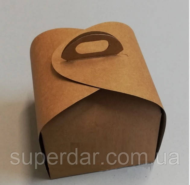 Упаковка для кусочка торта, пироженого и др. изделий, 110х110х110 мм, крафт СД02-02