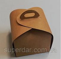 Упаковка для шматочка торта, тістечка та ін. виробів, 110х110х110 мм, крафт СД02-02