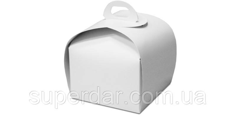 Упаковка для кусочка торта, пироженого и др. изделий, 110х110х110 мм, белая СД01-02
