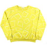 Кофта женская коттоновая желтая, стильный осенний свитшот, фото 5