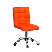 Кресло офисное  на колесах  AUGUSTO  СН-OFFICE  экокожа, ОРАНЖ 1012