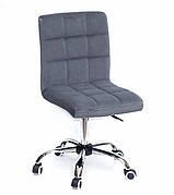 Кресло офисное  на колесах  AUGUSTO  СН-OFFICE  бархат , СЕРЫЙ B-1004