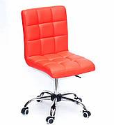 Кресло офисное  на колесах  AUGUSTO  СН-OFFICE экокожа , КРАСНЫЙ 1007