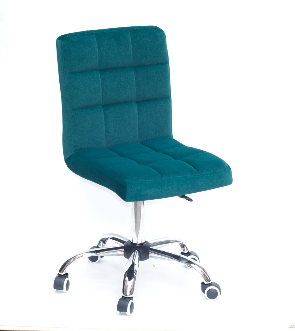 Кресло офисное  на колесах  AUGUSTO  СН-OFFICE  бархат , ЗЕЛЕНЫЙ B-1003