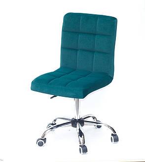 Кресло офисное  на колесах  AUGUSTO  СН-OFFICE  бархат , ЗЕЛЕНЫЙ B-1003, фото 2