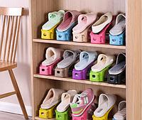 Стенд подставка для обуви на 1 пару регулируемый 25 см х 10 см, фото 1